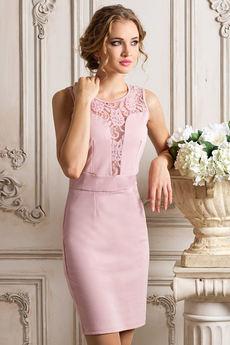 Вечернее платье цвета пыльной розы VIAGGIO