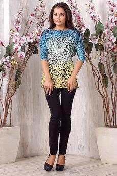 Удлиненная блуза с леопардовым принтом Liora