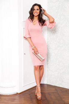 Розовое коктейльное платье Angela Ricci