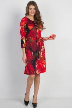 Красное платье с поясом Bast