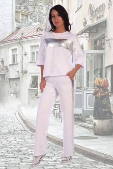 Белый повседневный костюм  Натали